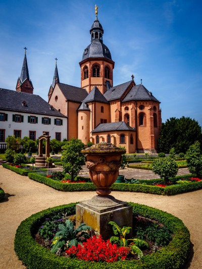 St. Marcellinus and Petrus in Seligenstadt, Germany. Originally built as a monastery for the Order of Saint Benedict